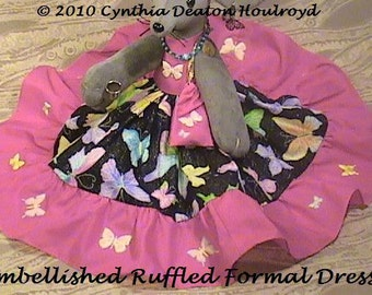 "PART #2 Option J - Embellished Ruffled Formal DRESS / Purse - CDH ""Three Blind Mice..."""