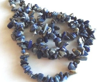 "Lapis Lazuli (Natural) Medium Chip Beads, 36"" Strand"