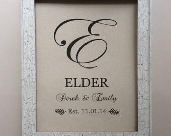 """Cotton Anniversary Gift - 2nd Anniversary Gift - Print  8""""x10"""" - Personalized Monogram - Engagement, Shower, Wedding, Anniversary Gift"""