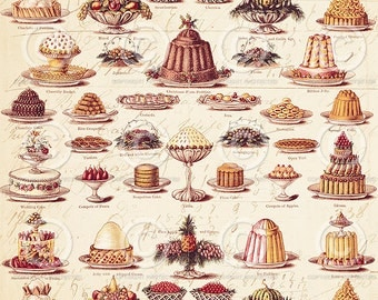 Printable Wrapping Paper - Vintage Christmas Pudding -  Printable PDF file to download instantly by Jodie Lee