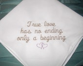 Embroidered Custom made Wedding Handkerchief