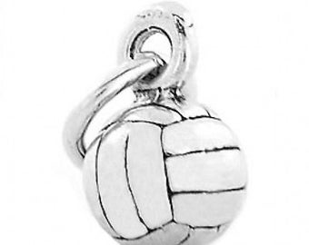Sterling Silver Small Volleyball Charm