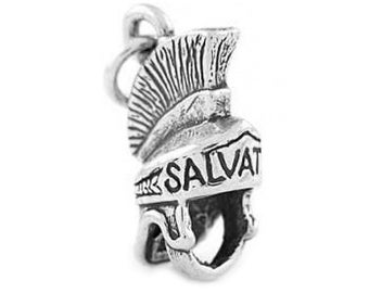 Sterling Silver Armor of God - Helmet of Salvation Charm (3d charm)