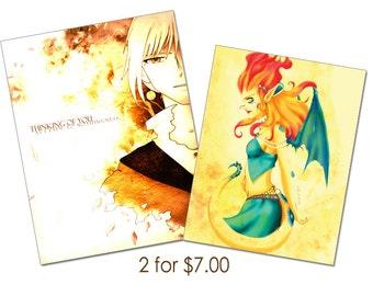 Buy 2 5 dollar Prints for 7 dollars -  Anime/Manga/Original Prints