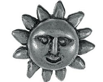 Small Sun Face Lapel Pin - CC419