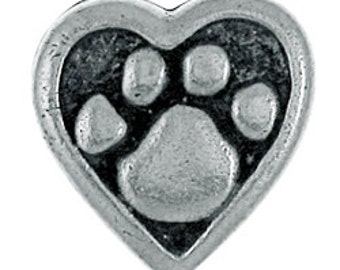 Heart and Paw Lapel Pin - CC411