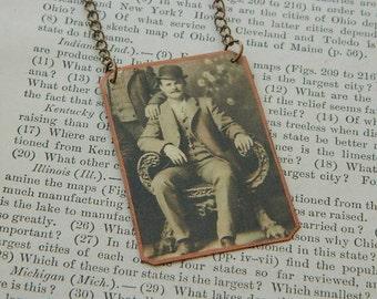 Butch Cassidy necklace Western jewelry mixed media jewelry