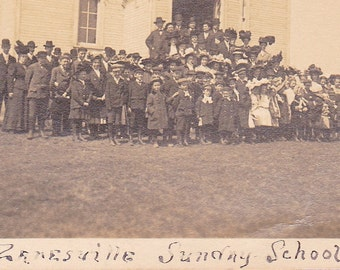 "Ca 1909 ""Sunday School"" South Zanesville, Ohio B & W Real Photo Postcard - 706"