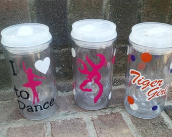 Personalized 12 oz Soda can tumblers