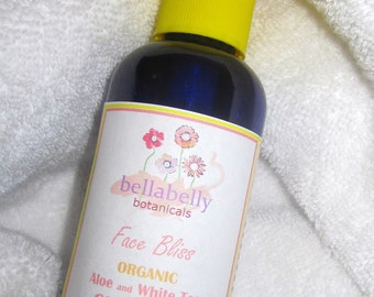 Organic Cleanser, Aloe and White Tea Face Bliss Cleanser