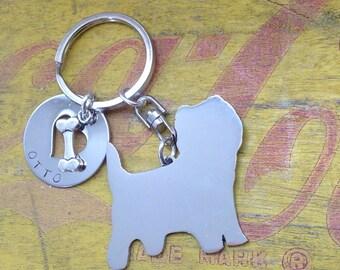 NEW Cairn Terrier Custom Keyring Keychain Scotland Scottish Dog