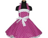 Girls 50's dress for petticoat custom made in pink with white polka dots