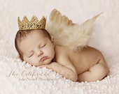 Regal Gold Lace Crown for Boy or Girl - Perfect Newborn Photo Prop