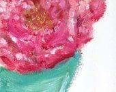 Bridesmaid .. original oil painting 4x6