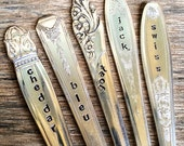 Vintage recycled silver Cheese Markers