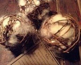 Bird Nesting Ball - Holiday Gift - Bird Lover's Gift - Gift of Nature- New England  hand made