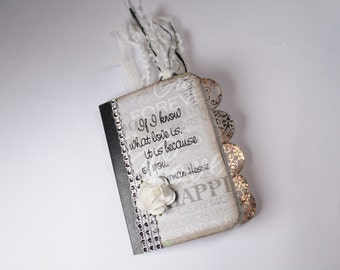 Wedding Booklet, Altered Mini Notebook, Notebook, Journal, Mini Journal, Writing Journal, Stationary, Booklet, Mini Notebook