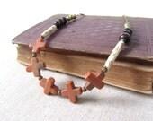 Peach Jasper Necklace, Bohemian Statement Necklace, Limited Edition Necklace, Long Necklace