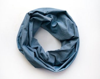Scarf - Large Chambray Scarf / Shawl