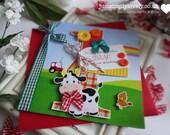 Farm Animal Birthday Card!