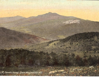 Vintage Postcard...Waterbury, Vermont, Camels Hump from Woodwards Hill.....Used,1917....no. 2931