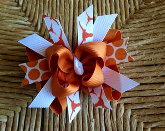 Texas Longhorns Boutique Layered Hairbow