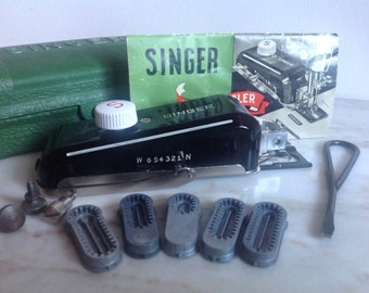 Singer Buttonholer 160506 Attachment Vintage Sewing Machine Monogram Attachment