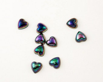 SALE Black Heart Cabochon Flatbacks 25  STR817