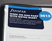 Filofax Week On One Page With Notes -2015