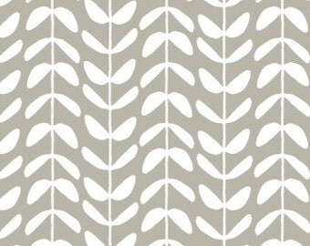 Vine Canvas in Gray - Yoyogi Park Canvas - Skinny laMinx - Cloud 9 Fabrics - 1 Yard