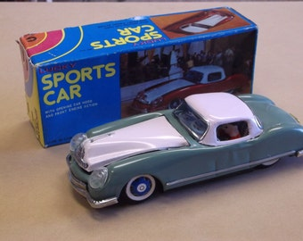 Vintage Lucky Sports Car,Friction Car with Original Box,Still Works