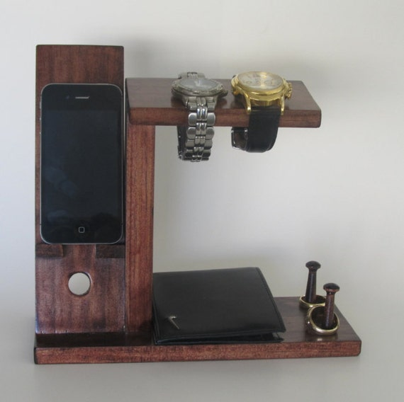 Iphone Stand With Mens Valet Men Watch Holder By