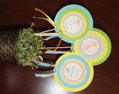 JUNGLE SAFARI Happy Birthday or Baby Shower Centerpiece Sticks {Set of 3} - Party Packs Available