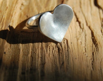 Heart Sterling Silver Ring - Made to Order