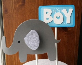 Elephant cake topper, centerpiece, party decoration boy or girl