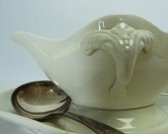 French Ironstone Sauce Serving Jug...Just Delightful....Ironstone...French Dining....