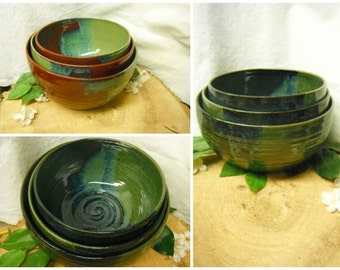 Mixing Bowl Set of 3 - Nesting Kitchen Mix Bowls - MADE TO ORDER -Dining and Entertaining - Serving - Ceramics - Pottery - Stoneware