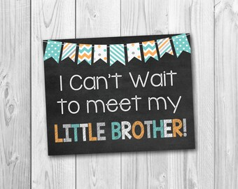 Pregnancy chalkboard sign, big brother sign, little brother, pregnancy announcement, photo prop
