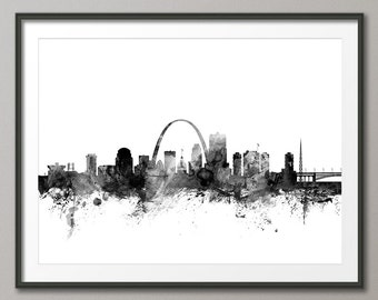 St Louis Skyline, St Louis Missouri Cityscape Art Print (1471)