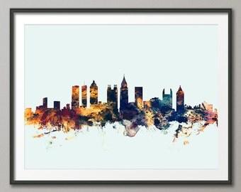 Atlanta Skyline, Atlanta Georgia Cityscape Art Print (1606)