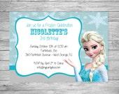 Frozen Theme Birthday Invitation
