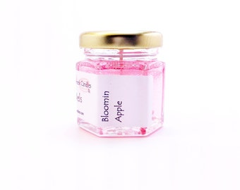 Bloomin Apple Blossom Candles Scented Gel Jar Mini Favors Pink Wedding Spring Gifts for Women Mothers Day Tea Party Decorations