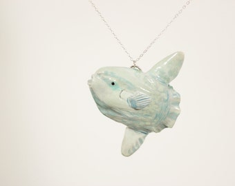 Ocean Sunfish Necklace - Mola Mola - Pendant, Statement Necklace - Made to Order