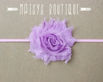 75% Off- Lavender Pink Flower Headband/ Newborn Headband/ Baby Headband/ Photo Prop
