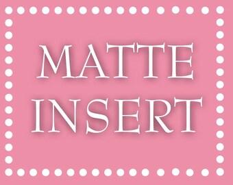 Matte Information Card