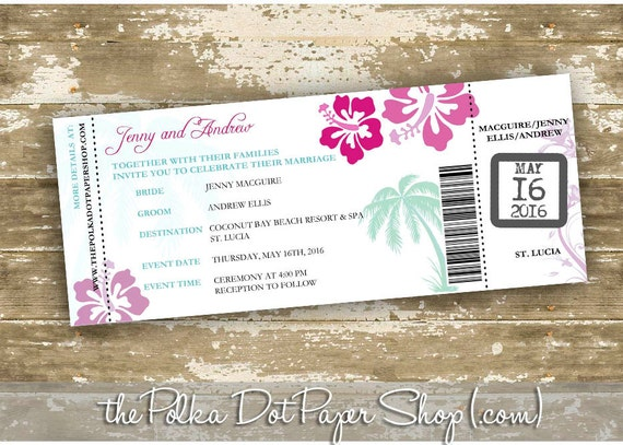 Diy Wedding Invitations Canada: Destination Wedding Invitation / DIY / Print Your Own