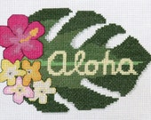 "PDF PATTERN - ""Aloha"" Counted Cross Stitch"
