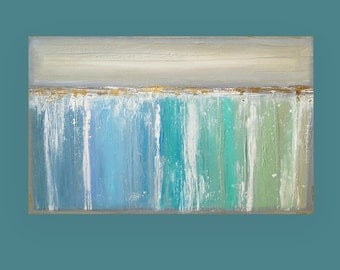 Art Acrylic Abstract Painting Original Canvas Art by Ora Birenbaum Titled: DREAMSCAPE 30x48x1.5""