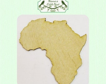 Africa (Large ) Wood Cut Out -  Laser Cut