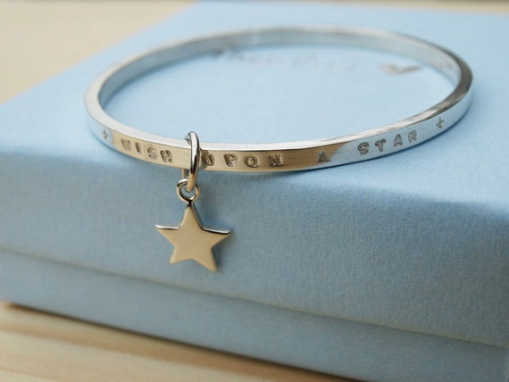 Child's Silver Bracelet  'Wish Upon A Star' - Sterling Silver